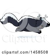 Clipart Of A Scared Skunk Running Royalty Free Vector Illustration