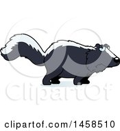 Clipart Of A Sad Or Depressed Skunk Royalty Free Vector Illustration