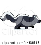 Clipart Of A Stalking Skunk Royalty Free Vector Illustration