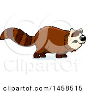 Clipart Of A Howling Red Panda Royalty Free Vector Illustration