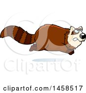 Clipart Of A Mad Red Panda Running Royalty Free Vector Illustration by Cory Thoman