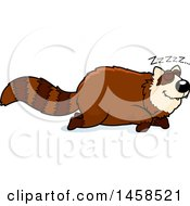 Clipart Of A Sleeping Red Panda Royalty Free Vector Illustration
