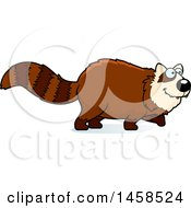Clipart Of A Happy Red Panda Walking Royalty Free Vector Illustration