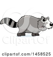 Clipart Of A Howling Raccoon Royalty Free Vector Illustration