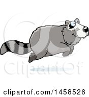Clipart Of A Happy Raccoon Jumping Royalty Free Vector Illustration