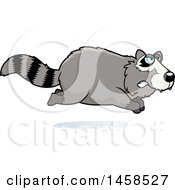 Clipart Of A Mad Raccoon Running Royalty Free Vector Illustration