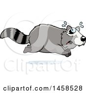 Clipart Of A Scared Raccoon Running Royalty Free Vector Illustration