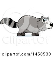 Clipart Of A Sad Or Depressed Raccoon Royalty Free Vector Illustration