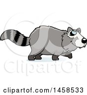 Clipart Of A Stalking Raccoon Royalty Free Vector Illustration