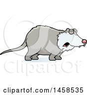 Clipart Of A Howling Possum Royalty Free Vector Illustration