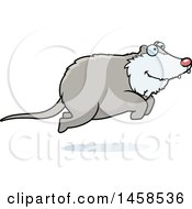 Clipart Of A Happy Possum Jumping Royalty Free Vector Illustration