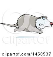 Clipart Of A Mad Possum Running Royalty Free Vector Illustration
