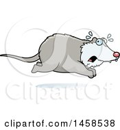 Clipart Of A Scared Possum Running Royalty Free Vector Illustration