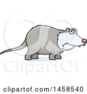 Clipart Of A Sad Or Depressed Possum Royalty Free Vector Illustration