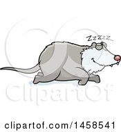 Clipart Of A Sleeping Possum Royalty Free Vector Illustration