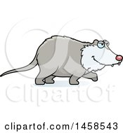 Clipart Of A Possum Stalking Royalty Free Vector Illustration
