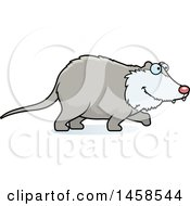 Clipart Of A Happy Possum Walking Royalty Free Vector Illustration
