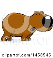 Clipart Of A Howling Capybara Royalty Free Vector Illustration
