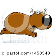 Clipart Of A Scared Capybara Running Royalty Free Vector Illustration