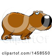 Clipart Of A Sad Or Depressed Capybara Royalty Free Vector Illustration