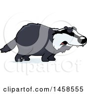 Clipart Of A Howling Badger Royalty Free Vector Illustration by Cory Thoman