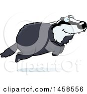 Clipart Of A Happy Badger Jumping Royalty Free Vector Illustration by Cory Thoman