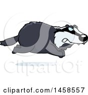 Clipart Of A Mad Badger Running Royalty Free Vector Illustration by Cory Thoman