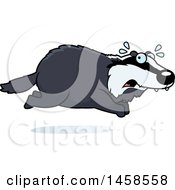 Clipart Of A Scared Badger Running Royalty Free Vector Illustration by Cory Thoman