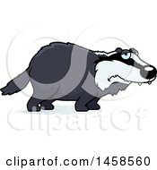 Clipart Of A Sad Or Depressed Badger Royalty Free Vector Illustration by Cory Thoman