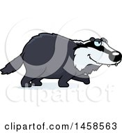 Clipart Of A Stalking Badger Royalty Free Vector Illustration by Cory Thoman