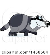 Clipart Of A Happy Badger Walking Royalty Free Vector Illustration by Cory Thoman