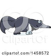 Clipart Of A Happy Anteater Smiling Royalty Free Vector Illustration