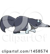 Clipart Of A Happy Anteater Walking Royalty Free Vector Illustration