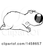 Outlined Mad Capybara Running