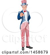 Clipart Of A Full Length Uncle Same Pointing At The Viewer Royalty Free Vector Illustration by Pushkin