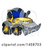 Cartoon Yellow Bulldozer