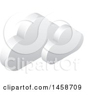 Clipart Of A 3d Clouds Icon Royalty Free Vector Illustration