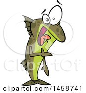 Cartoon Uncomfortable Fish Out Of Water