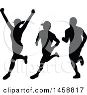 Poster, Art Print Of Silhouetted Female And Male Marathon Runners