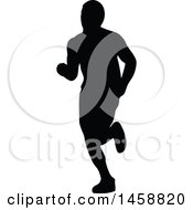 Silhouetted Male Marathon Runner