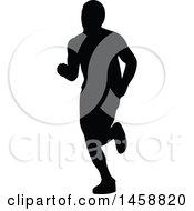 Poster, Art Print Of Silhouetted Male Marathon Runner