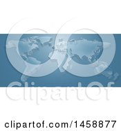 Clipart Of A 3d World Map In Blue Tones Royalty Free Vector Illustration