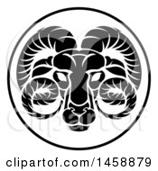 Black And White Zodiac Horoscope Astrology Aquarius Circle Design