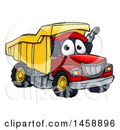 Clipart Of A Cartoon Dump Truck Mascot Character Royalty Free Vector Illustration by AtStockIllustration