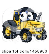 Cartoon Happy Tractor Mascot