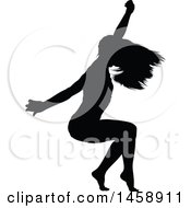 Black Silhouetted Female Dancer