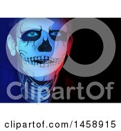 Clipart Of A Man In Skeleton Makeup Royalty Free Vector Illustration by dero