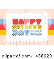 Clipart Of A Happy Fathers Day Design Over Beige Royalty Free Vector Illustration