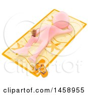 Clipart Of A 3d White Man With A Sun Burn On A White Background Royalty Free Illustration