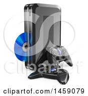 3d Video Game Console On A White Background